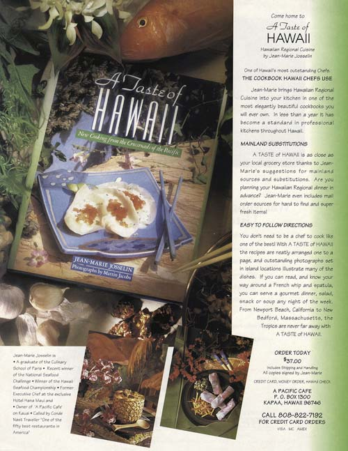 Menu Magazine Ad for Tast of Hawaii