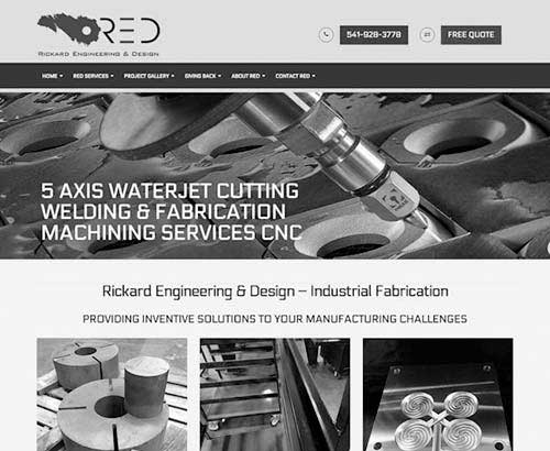 Rickard Engineering website screenshot gray