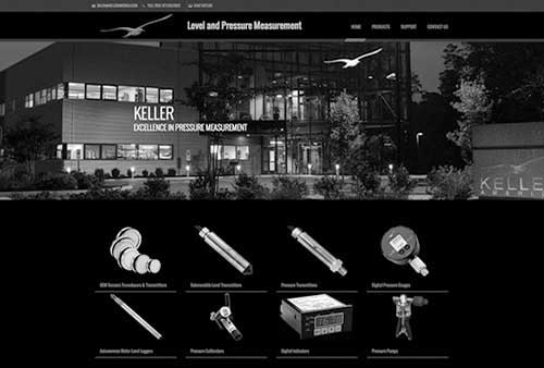 Keller America website screenshot gray